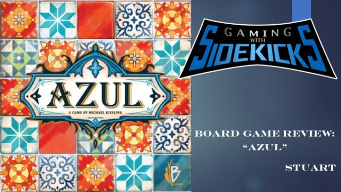 Azul, produced by Plan B Games and Next Move Games, is an abstract tile  drafting game that is easy to learn, yet challenging to master!